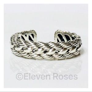 David Yurman Woven Cable Cuff Bracelet